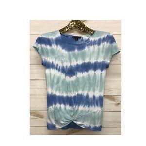 NWT INC Twist Front Tie Dye Shirt